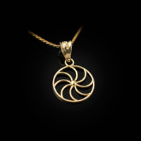 Dainty Yellow Gold Armenian Eternity Charm Necklace