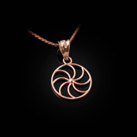 Dainty Rose Gold Armenian Eternity Charm Necklace