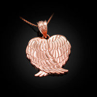 Rose Gold  Angel Wings Pendant Necklace