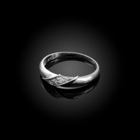 4MM Womens Diamond Wedding Band in White Gold