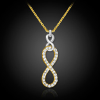gold vertical infinity diamond necklace