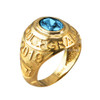 March Birthstone 2019 High School Class Graduation CZ Gold Ring