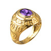 February Birthstone 2019 High School Class Graduation CZ Gold Ring