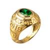May Birthstone 2019 High School Class Graduation CZ Gold Ring