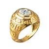April Birthstone 2019 High School Class Graduation CZ Gold Ring