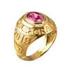 October Birthstone 2019 High School Class Graduation CZ Gold Ring