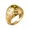 November Birthstone 2019 High School Class Graduation CZ Gold Ring