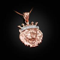 Rose Gold Lion King Charm Necklace