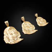 Yellow Gold Benjamin Franklin Pendant (S/M/L)