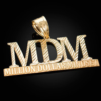 MDM Million Dollar Mindset Yellow Gold DC Pendant