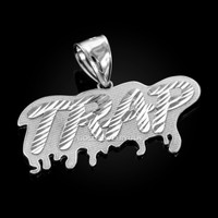 White Gold TRAP Dripping DC Pendant