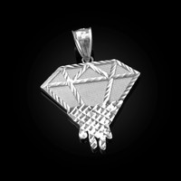 White Gold Diamond Dripping DC Pendant