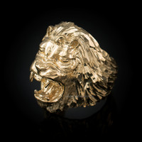Roaring Lion Men's DC Ring in Yellow Gold