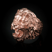 Roaring Lion Men's DC Ring in Rose Gold