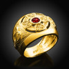 Mens Gold Celtic Birthstone Ring