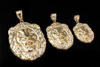 Yellow Gold Lion Face DC Pendant (S/M/L)