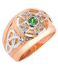 Two-Tone Rose Gold Men's Celtic Birthstone Ring