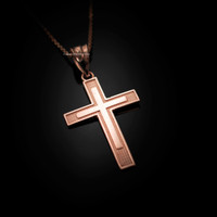Rose Gold Inner Cross Pendant Necklace