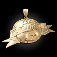 Yellow Gold THE WORLD IS YOURS Pendant