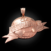 Rose Gold THE WORLD IS YOURS Pendant