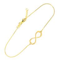 14K Dainty Gold Infinity Bracelet