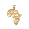 Yellow Gold Africa Pendant
