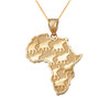 Yellow Gold Africa Necklace