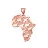 Rose gold Africa pendant