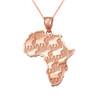 Rose gold Africa necklace