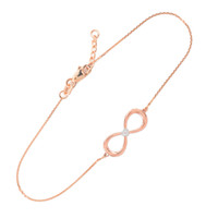 14K Two-Tone Rose Gold Diamond Infinity Bracelet