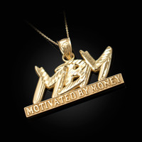 Yellow Gold MBM Motivated By Money DC Pendant Necklace