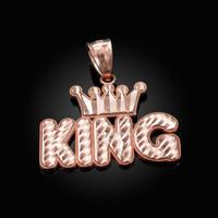 Rose Gold Crown King Hip-Hop DC Pendant
