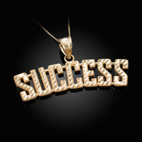 SUCCESS Yellow Gold DC Pendant Necklace