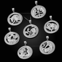White Gold Zodiac Pendant Necklace