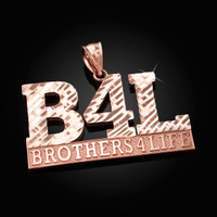 Rose Gold B4L Brothers 4 Life Mens DC Pendant