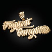 Yellow Gold ORIGINAL GANGSTA Hip-Hop Pendant