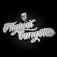 White Gold ORIGINAL GANGSTA Hip-Hop Pendant