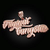 Rose Gold ORIGINAL GANGSTA Hip-Hop Pendant