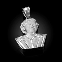 White Gold El Patron Pablo Escobar Satin DC Pendant