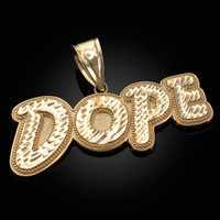 Yellow Gold Dope Mens DC Pendant