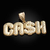 Gold Cash Hip-Hop DC Pendant