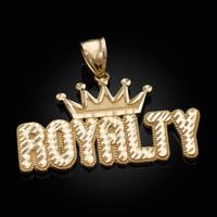 Gold ROYALTY Hip-Hop DC Pendant