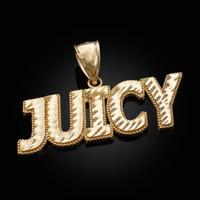 Gold JUICY Hip-Hop DC Pendant