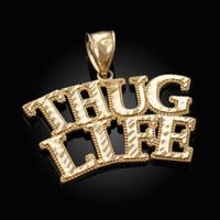 Gold THUG LIFE Hip-Hop DC Pendant