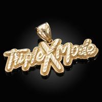 Gold TRIPLE X MODE Hip-Hop DC Pendant