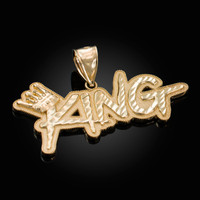 Gold Crown King DC Hip-Hop Pendant