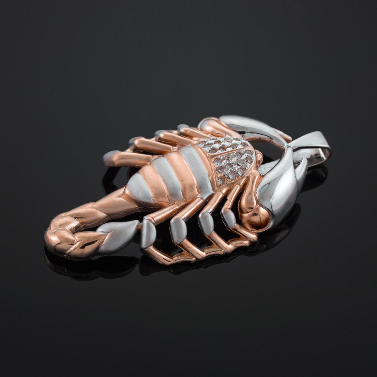 14k Two Tone Gold Scorpion Pendant