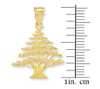 Gold Cedar Tree of Lebanon Pendant
