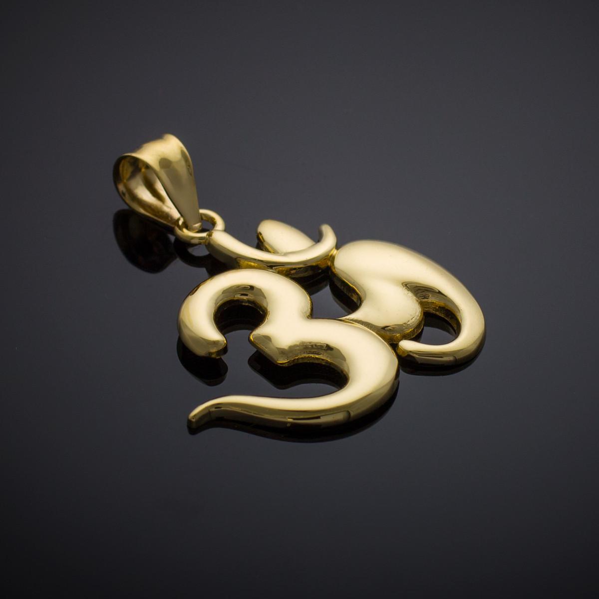 Gold Om Symbol Pendant