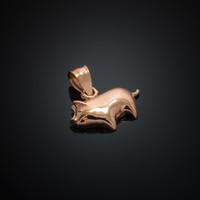 Rose Gold Pig Charm Pendant